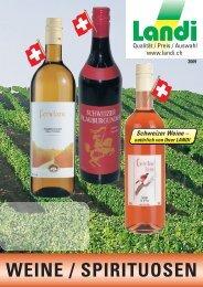 WEINE / SPIRITUOSEN - LANDI Jungfrau AG