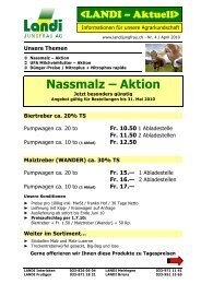 Nassmalz – Aktion - LANDI Jungfrau AG