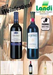 Weinfestival Frühling 2013 (pdf / 2569 KB) - LANDI Jungfrau AG