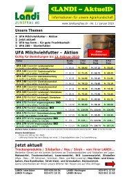 UFA Milchviehfutter – Aktion - LANDI Jungfrau AG