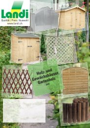 Holz- und Gewächshäuser, Gartenholz - Landi