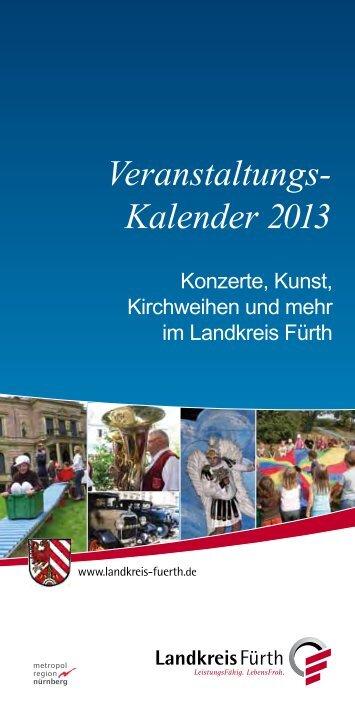 Veranstaltungs- Kalender 2013 - Landkreis Fürth