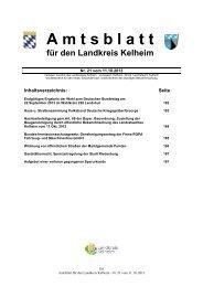 21/2013 - Landkreis Kelheim