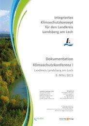 Dokumentation Klimaschutzkonferenz I - Landkreis Landsberg am ...