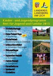 Programmheft Kinder- und Jugendprogramm 2013 - Landkreis ...
