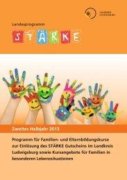 Programmheft - Zweites Halbjahr 2013 - Landkreis Ludwigsburg