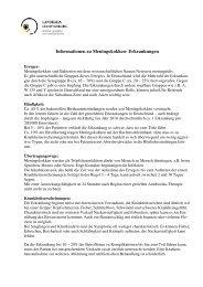 Meningokokken-Erkrankungen - Landkreis Ludwigsburg