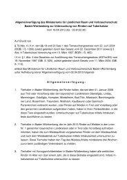 Allgemeinverfügung des Ministeriums für Ernährung und Ländlichen ...