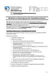 Merkblatt zur Beantragung einer Gaststättenerlaubnis - Landkreis ...