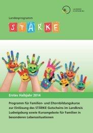 Programmheft - Erstes Halbjahr 2014 - Landkreis Ludwigsburg