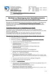 Merkblatt zur Beantragung einer Gaststättenerlaubnis für juristische ...