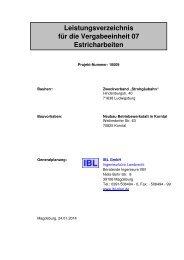 Leistungsverzeichnis für die Vergabeeinheit 07 Estricharbeiten