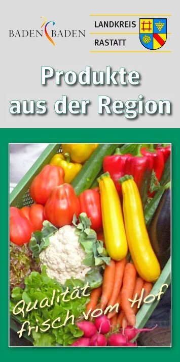 Broschüre Direktvermarkter - Landkreis Rastatt