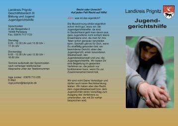 Flyer der Jugendgerichtshilfe des Landkreises ... - Landkreis Prignitz