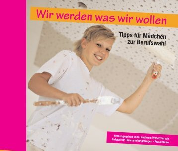 """Flyer """"Mädchen und Beruf"""" mit Betriebsliste - Landkreis Wesermarsch"""