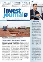 invest journal Ausgabe Oktober 2013 [Download,*.pdf, 1,21 MB]