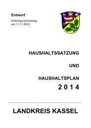 Landkreis Kassel: Haushalt 2014