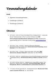 Veranstaltungskalender Veranstaltungskalender - Landkreis ...