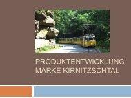 PRODUKTENTWICKLUNG MARKE KIRNITZSCHTAL