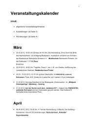 Veranstaltungskalender - Landkreis Sächsische Schweiz ...