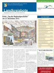 Landkreisbote Nr. 11 vom 06.11.2013 [Download,*.pdf, 3,63 MB ]