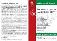 WEIHNACHTEN IM LANDKREIS ROTH - Landratsamt Roth