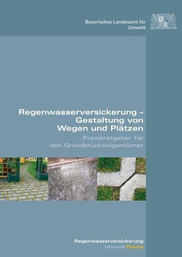 Regenwasserversickerung - Gestaltung von Wegen ... - Landratsamt