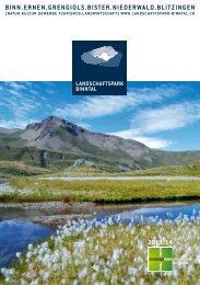 Infoprospekt 2013/2014, 8.5 MB - Landschaftspark Binntal