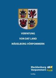 verfatung von dat land mäkelborg-vörpommern - Landtag ...