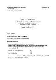 Protokoll der 47. Sitzung am 5. Juni 2013 - Landtag Mecklenburg ...