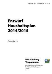EPL 10 Ministerium für Arbeit, Gleichstellung und Soziales