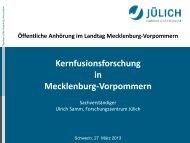 Prof. Dr. Ulrich Samm - Landtag Mecklenburg Vorpommern