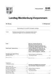 6/46 Landtag Mecklenburg-Vorpommern
