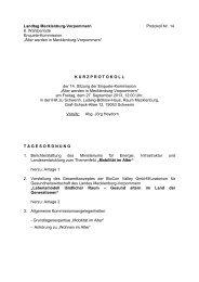 Kurzprotokoll der 14. Sitzung (pdf) - Landtag Mecklenburg ...