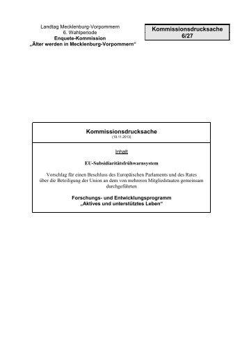 DE - Landtag Mecklenburg Vorpommern