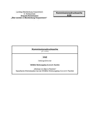 Kommissionsdrucksache Kommissionsdrucksache 6/28 - Landtag ...