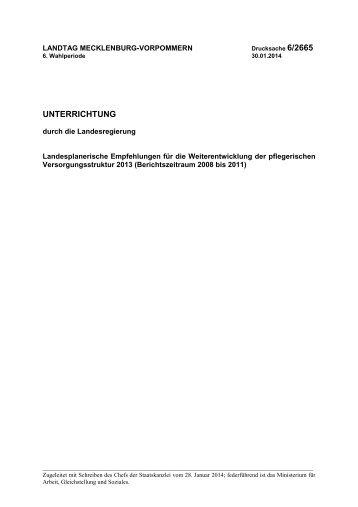 Der Bericht kann hier nachgelesen werden. - Landtag Mecklenburg ...