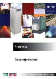 01-19 Preisliste Gesamtpreisliste - CTC Giersch AG