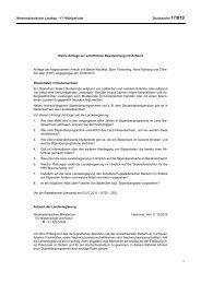 Stipendiaten in Niedersachsen - Niedersächsischer Landtag
