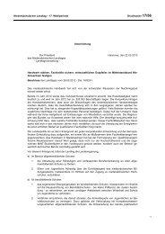 Niedersächsischer Landtag – 17. Wahlperiode Drucksache 17/56 ...