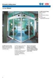 Prismatic sliding doors compactmaster