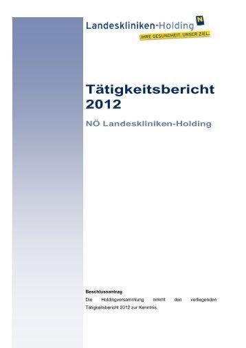 Tätigkeitsbericht 2012 - beim Niederösterreichischen Landtag