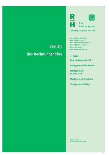 Bericht des Rechnungshofes - beim Niederösterreichischen Landtag