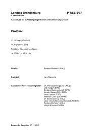 Landtag Brandenburg P-AEE 5/37 Protokoll