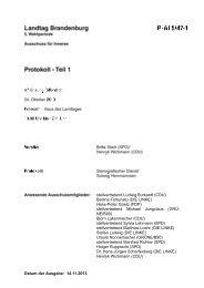 Protokoll der 47. Sitzung des Ausschusses für Inners am 24.10.2013