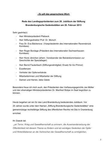Rede vom 26.02.2013 [ PDF , 259.1 KB] - Landtag Brandenburg