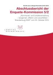 Abschlussbericht der Enquete- Kommission 5/2 - Landtag ...