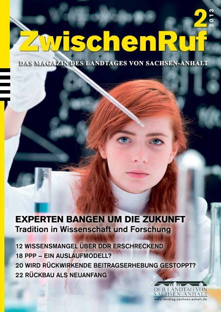 ExpErtEn bangEn um diE Zukunft - Der Landtag von Sachsen-Anhalt