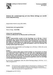 Hochschulen und Liegenschaften - Der Landtag von Sachsen-Anhalt