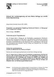 Kleine Anfrage - Der Landtag von Sachsen-Anhalt